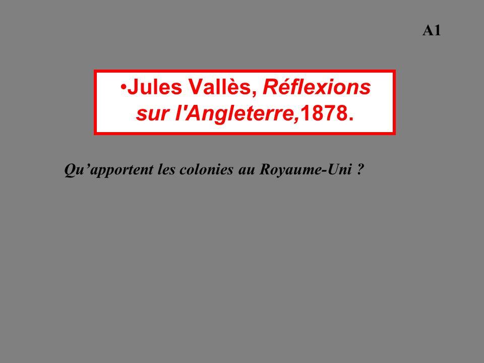 Jules Vallès, Réflexions sur l Angleterre,1878.