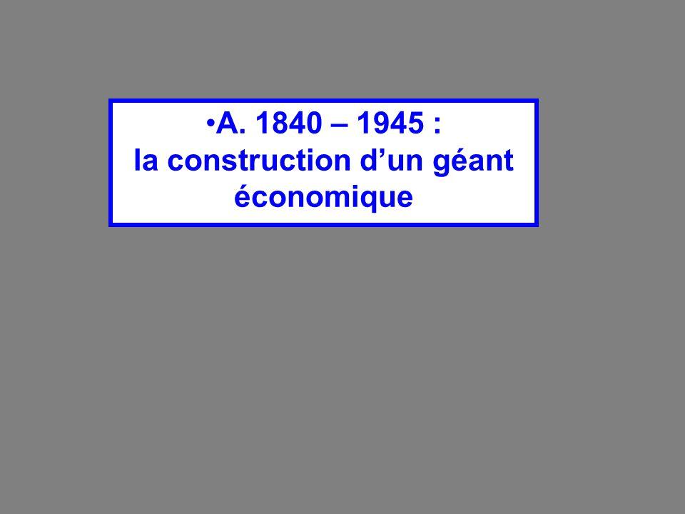 A. 1840 – 1945 : la construction d'un géant économique