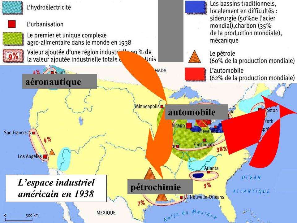 L'espace industriel américain en 1938