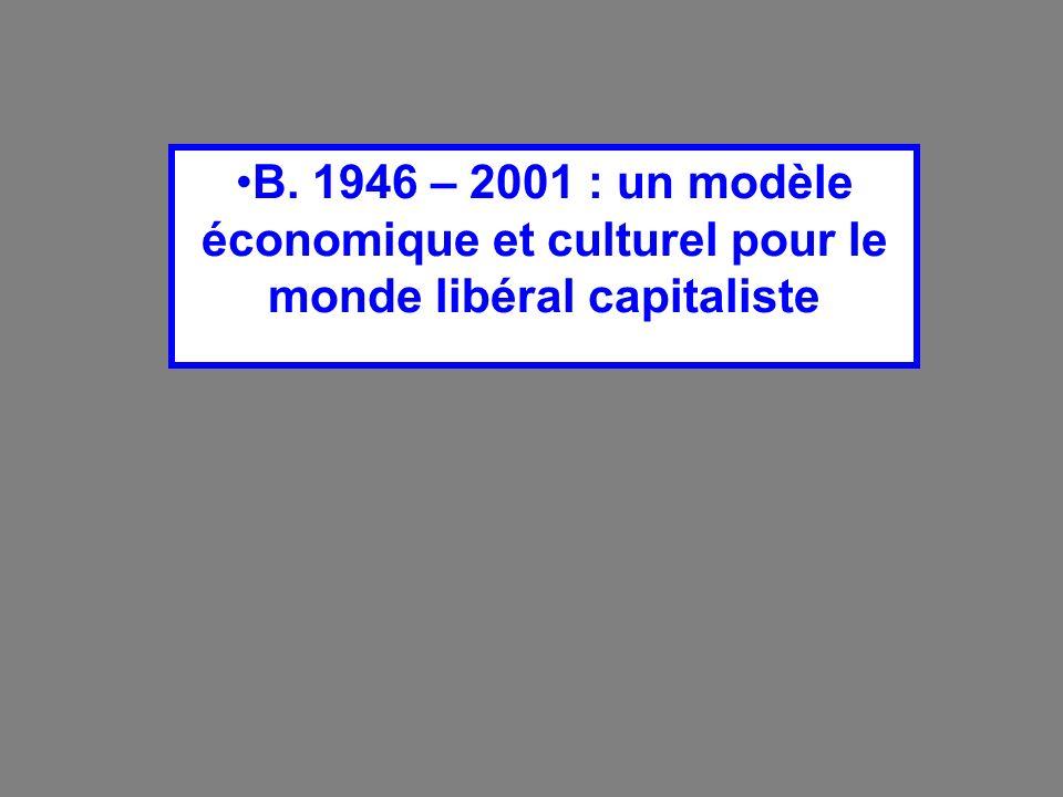 B. 1946 – 2001 : un modèle économique et culturel pour le monde libéral capitaliste