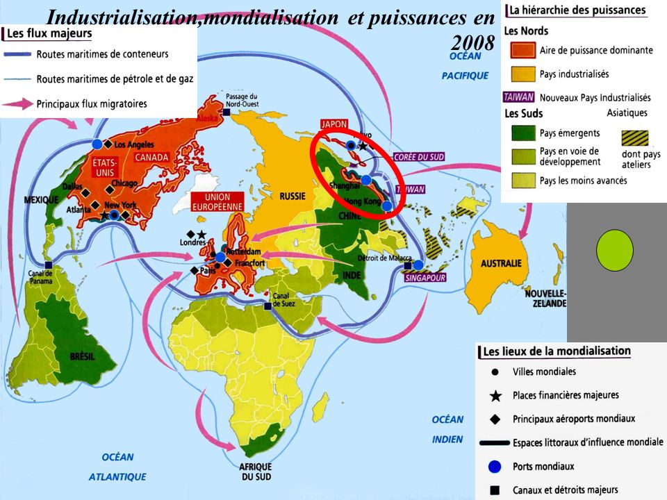 Industrialisation,mondialisation et puissances en 2008