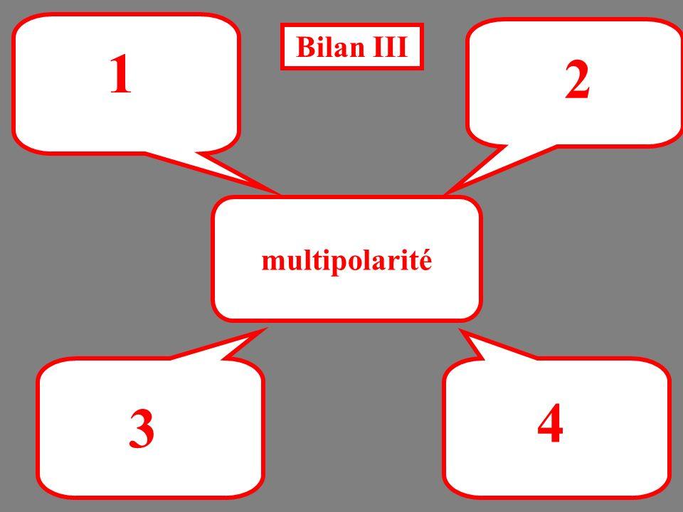 Bilan III 1 2 multipolarité 4 3