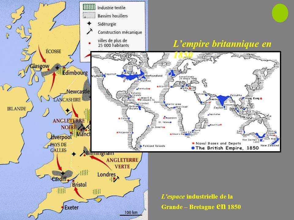 L'empire britannique en 1850