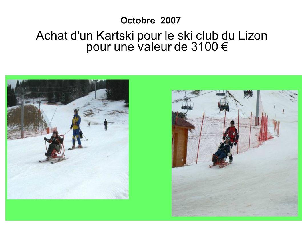 Achat d un Kartski pour le ski club du Lizon pour une valeur de 3100 €