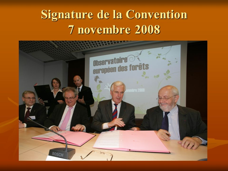 Signature de la Convention 7 novembre 2008