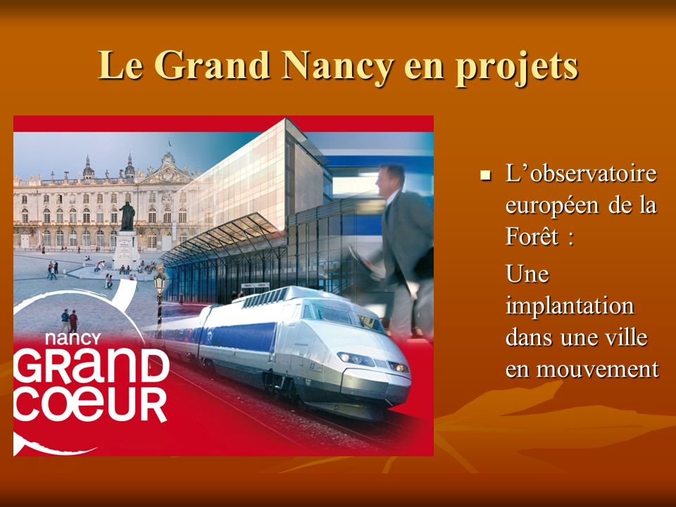 Le Grand Nancy en projets