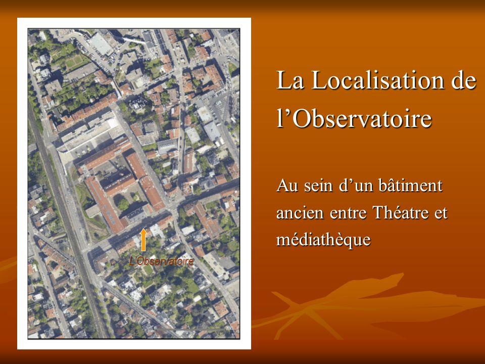 La Localisation de l'Observatoire Au sein d'un bâtiment