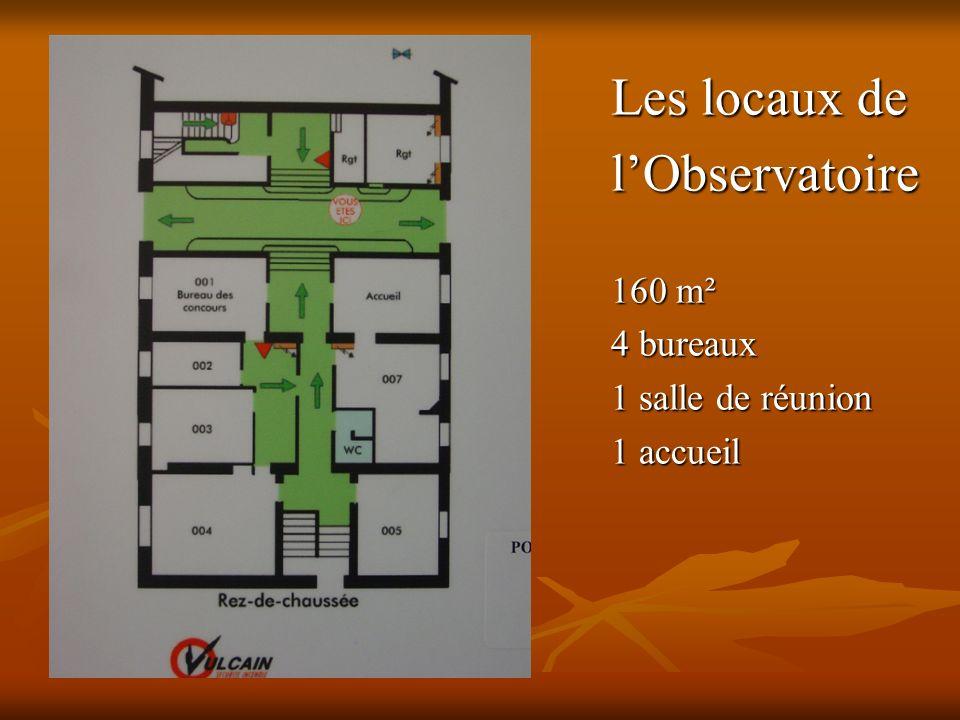 Les locaux de l'Observatoire 160 m² 4 bureaux 1 salle de réunion