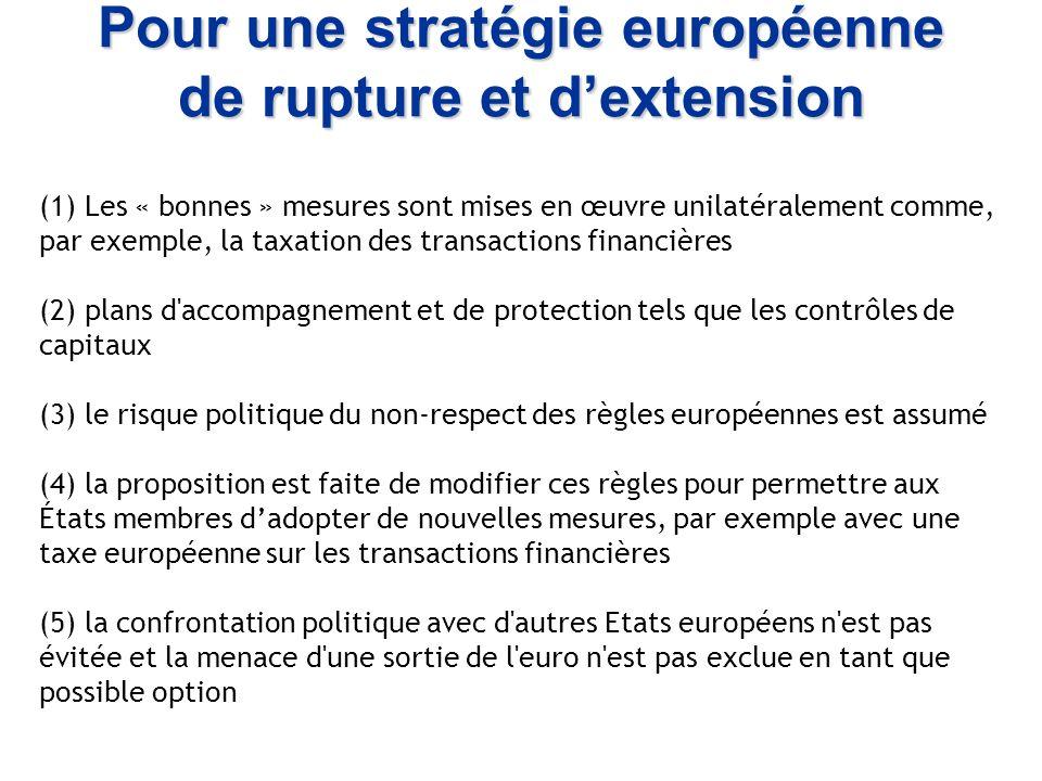 Pour une stratégie européenne de rupture et d'extension