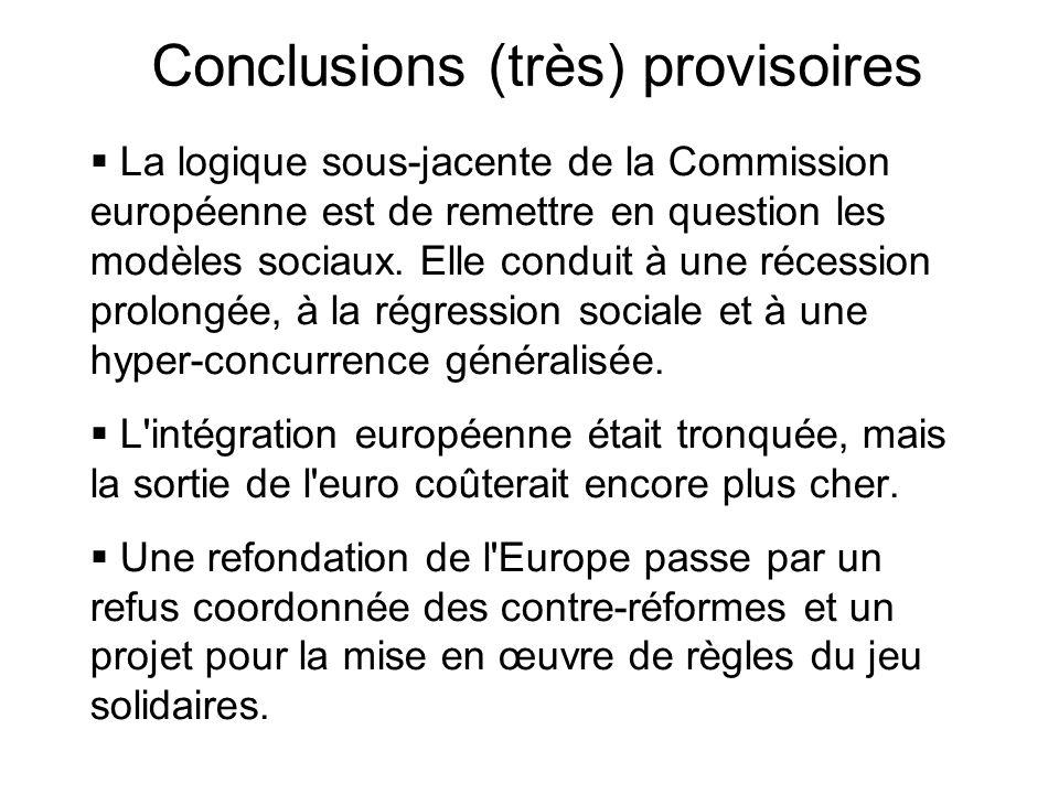 Conclusions (très) provisoires