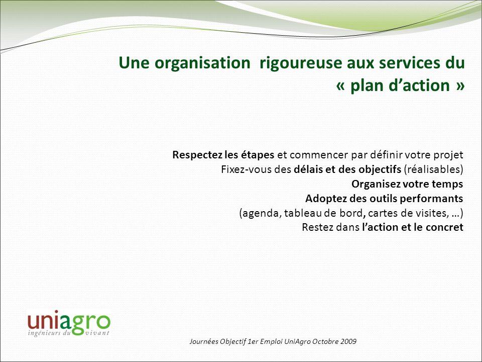 Une organisation rigoureuse aux services du « plan d'action »