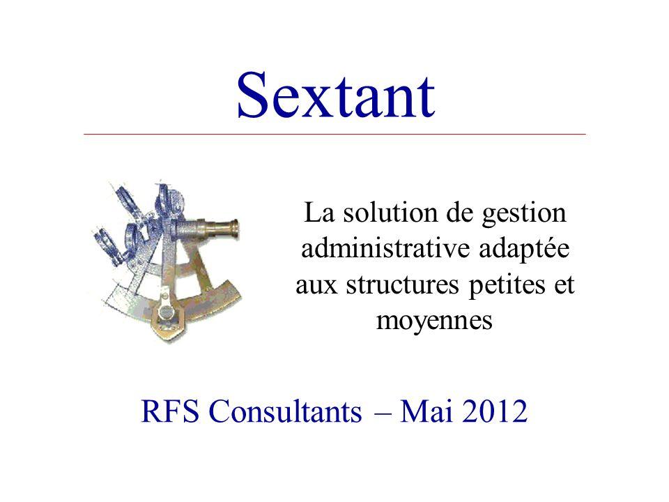 Sextant RFS Consultants – Mai 2012