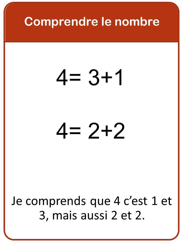 Je comprends que 4 c'est 1 et 3, mais aussi 2 et 2.