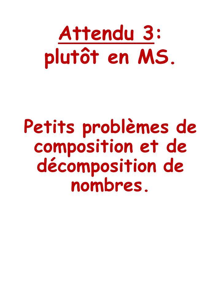 Petits problèmes de composition et de décomposition de nombres.