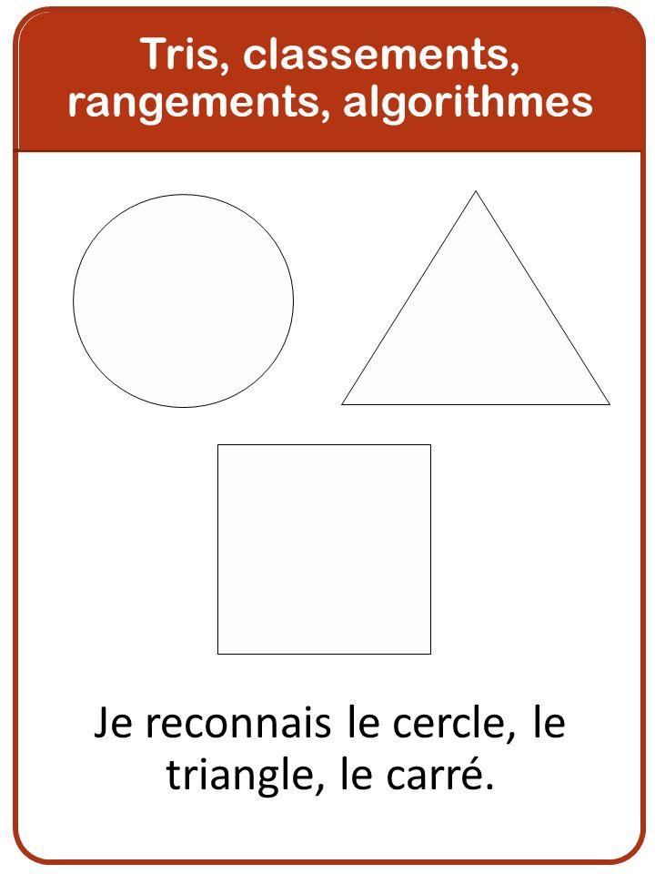 Je reconnais le cercle, le triangle, le carré.