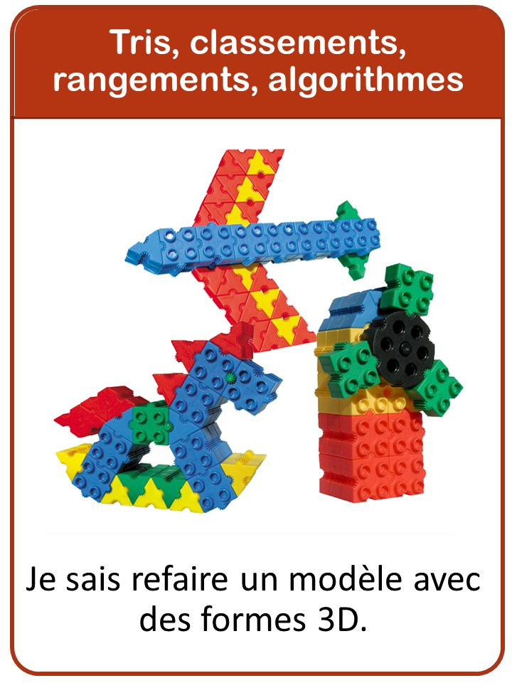 Je sais refaire un modèle avec des formes 3D.