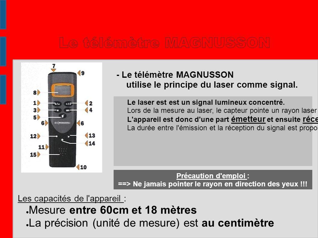 Le télémètre MAGNUSSON
