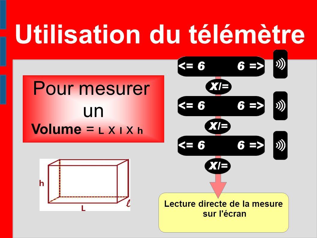 Lecture directe de la mesure sur l écran
