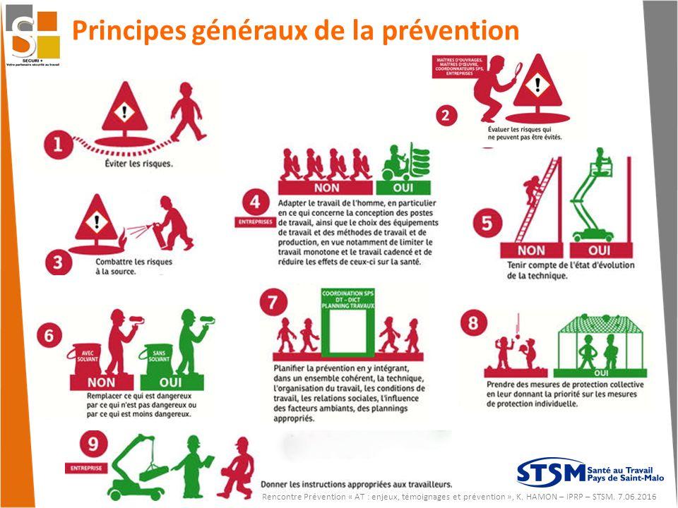 Principes généraux de la prévention