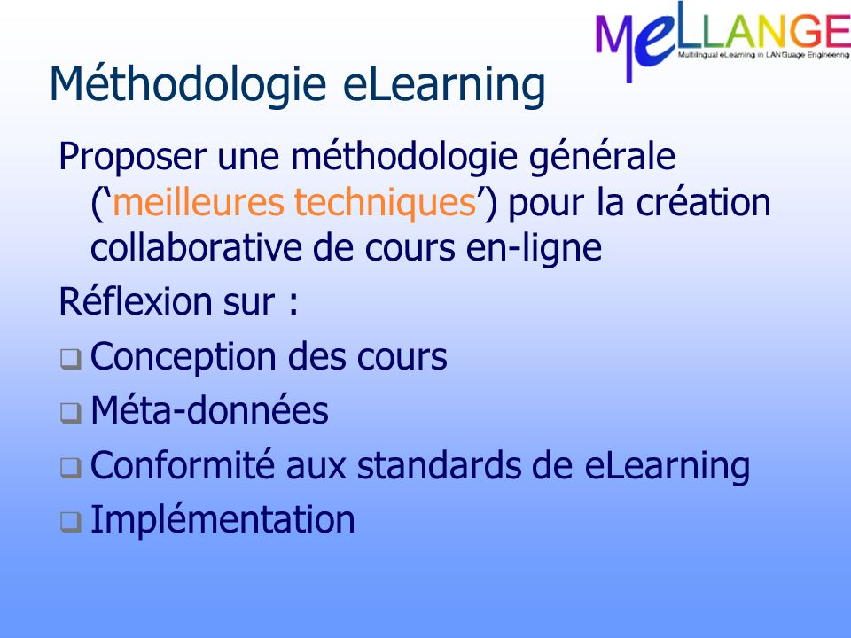 Méthodologie eLearning
