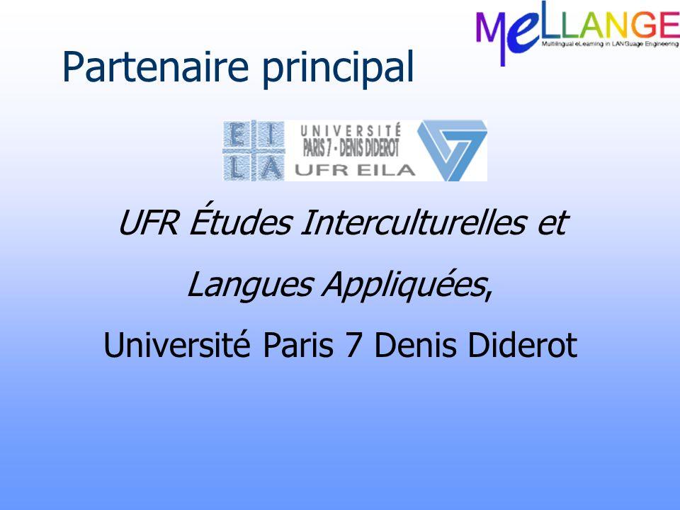 Partenaire principal UFR Études Interculturelles et