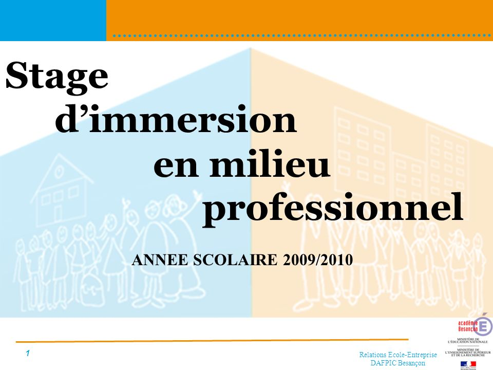 Stage d'immersion en milieu professionnel
