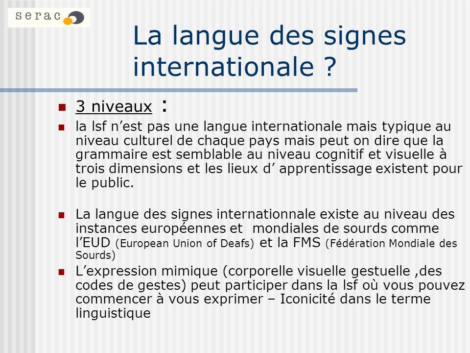 La langue des signes internationale