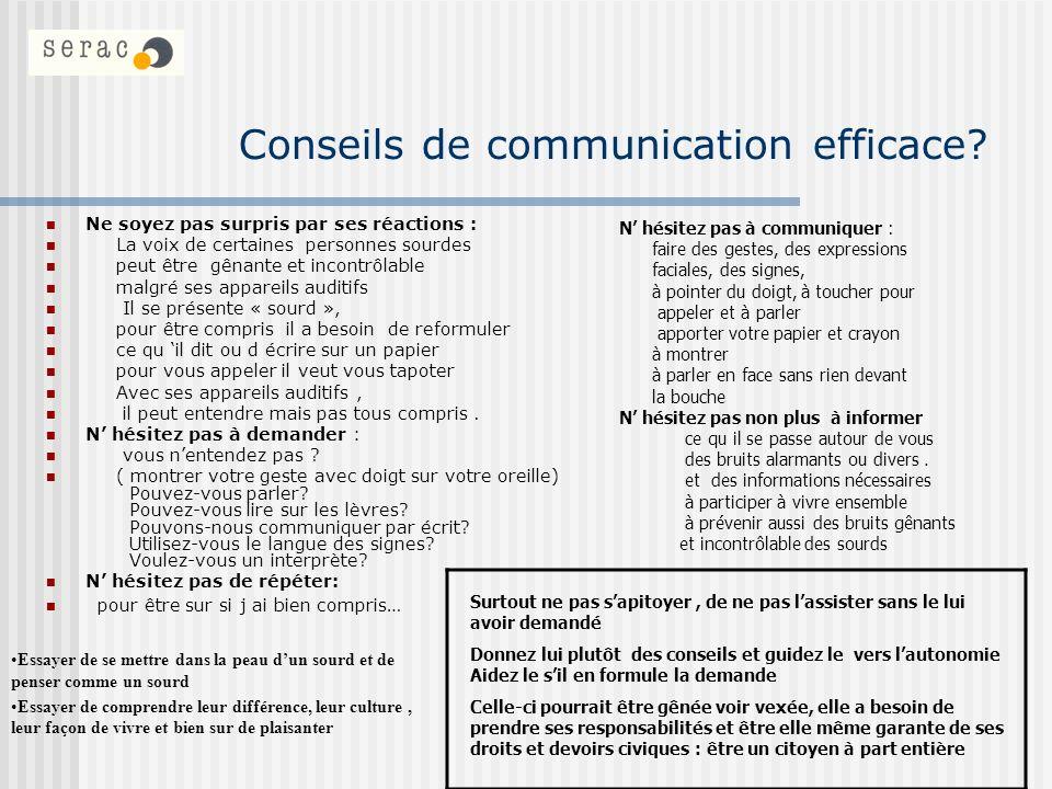 Conseils de communication efficace