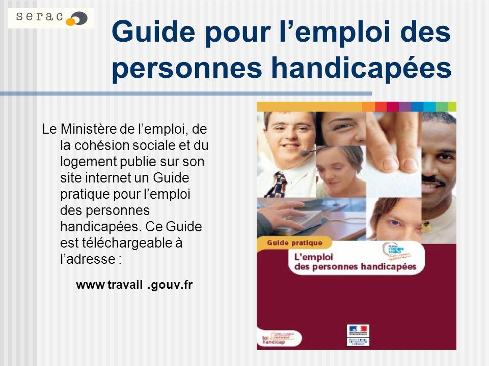 Guide pour l'emploi des personnes handicapées