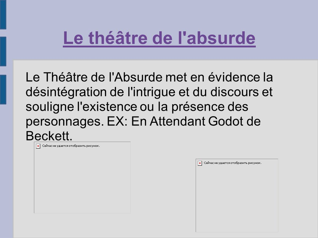 Le théâtre de l absurde