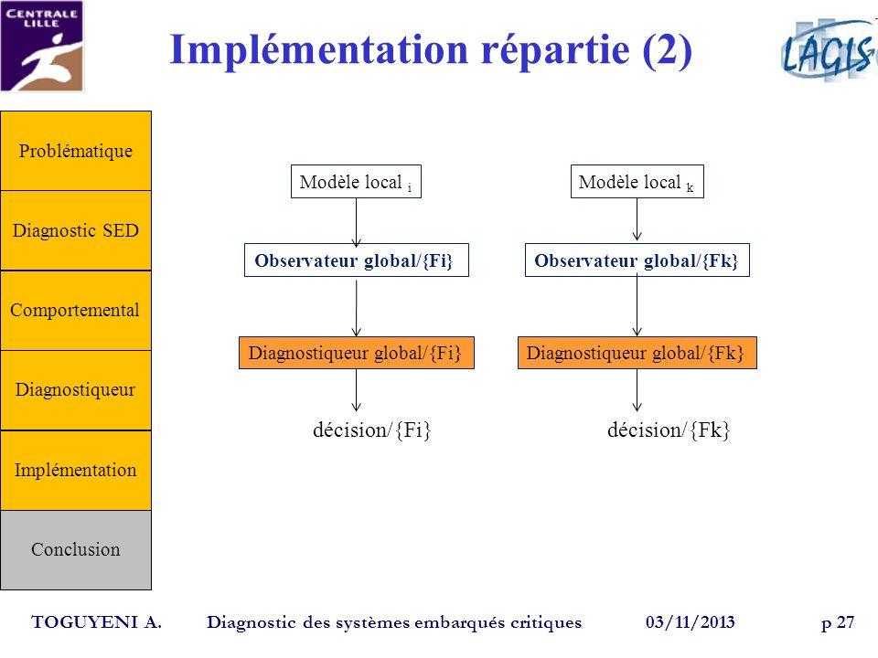 Implémentation répartie (2)