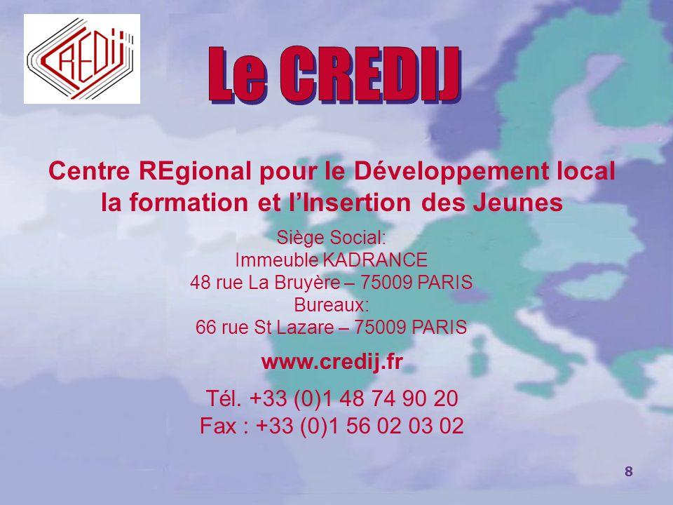 Le CREDIJ Centre REgional pour le Développement local