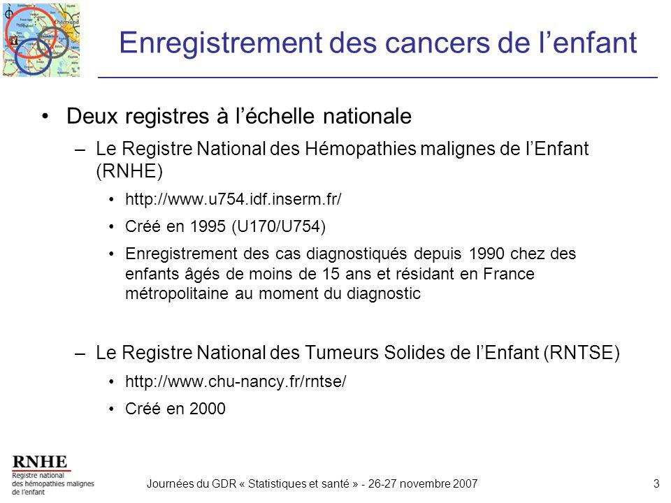 Enregistrement des cancers de l'enfant