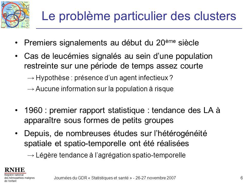 Le problème particulier des clusters