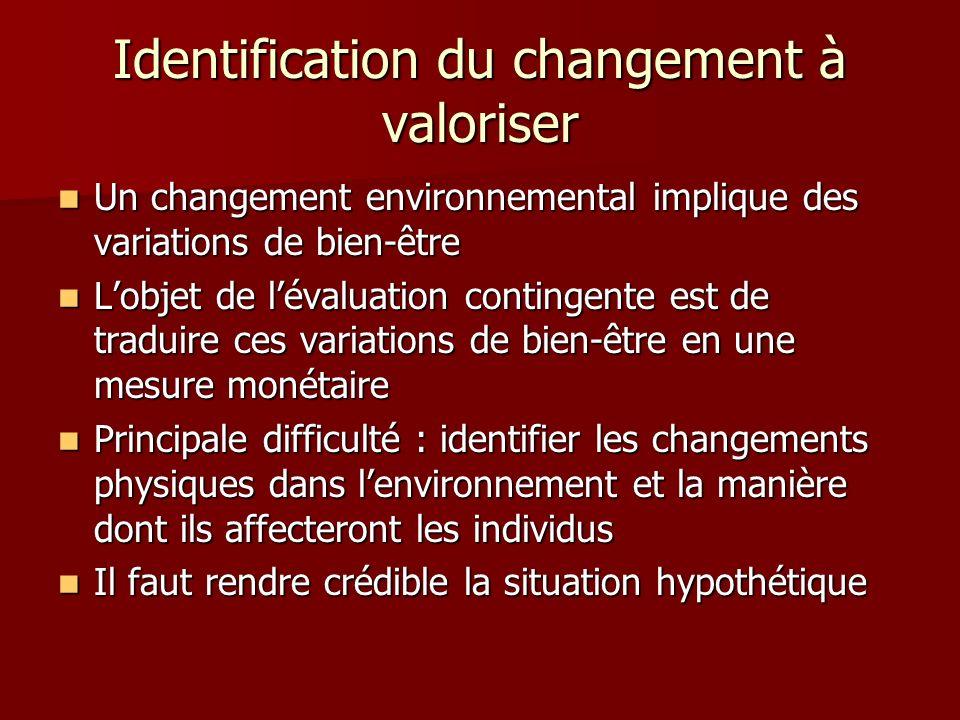 Identification du changement à valoriser