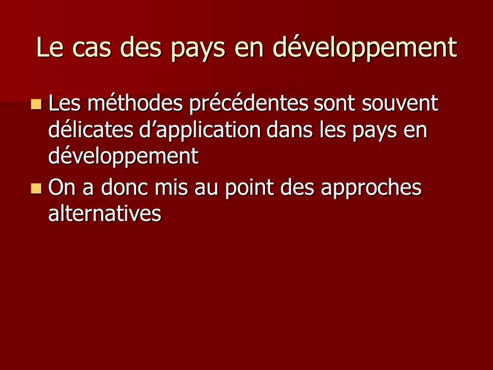Le cas des pays en développement