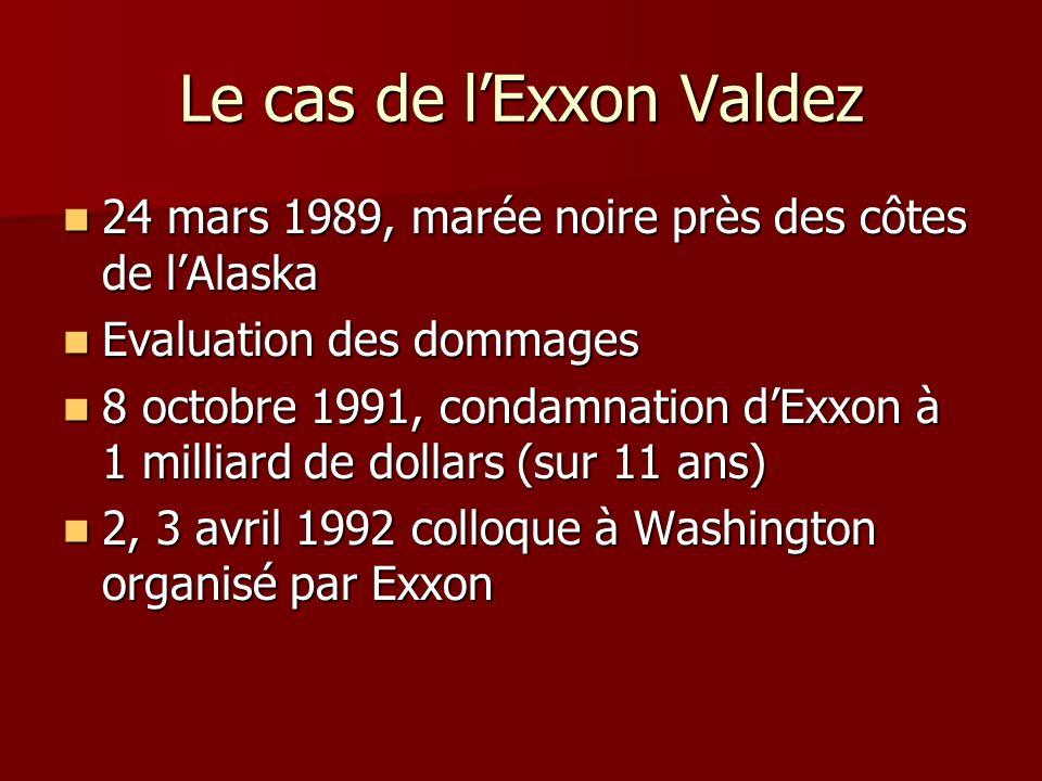 Le cas de l'Exxon Valdez