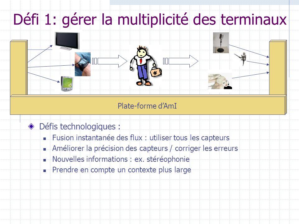 Défi 1: gérer la multiplicité des terminaux