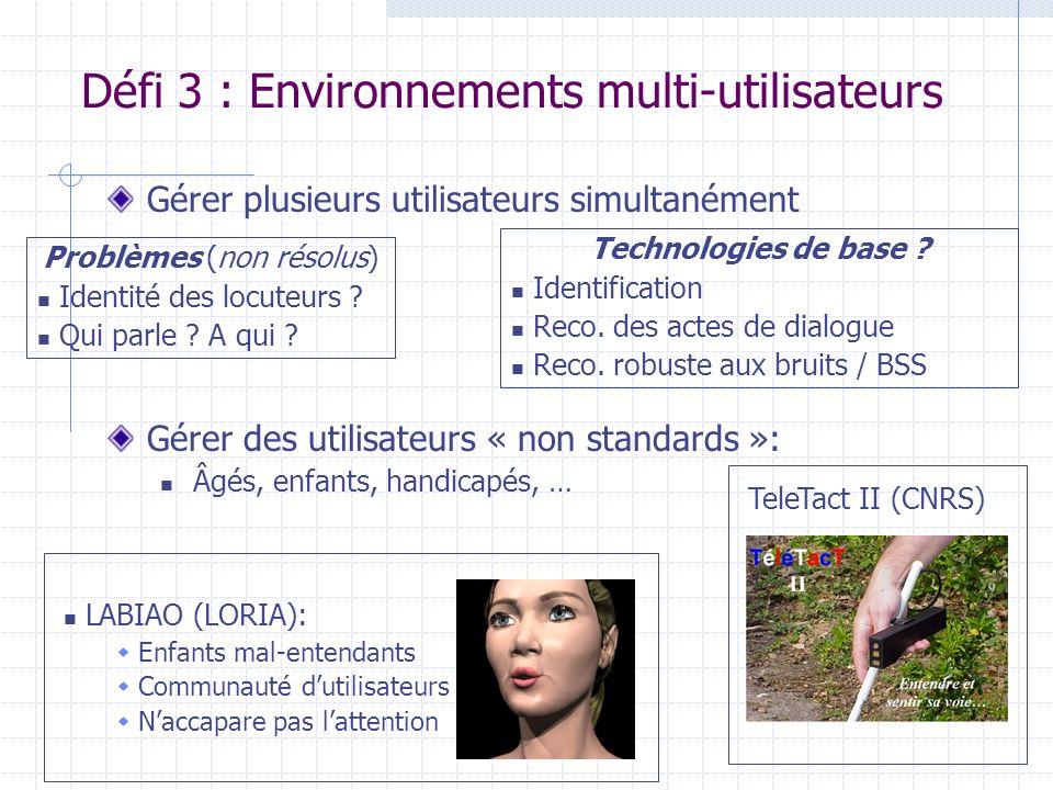 Défi 3 : Environnements multi-utilisateurs