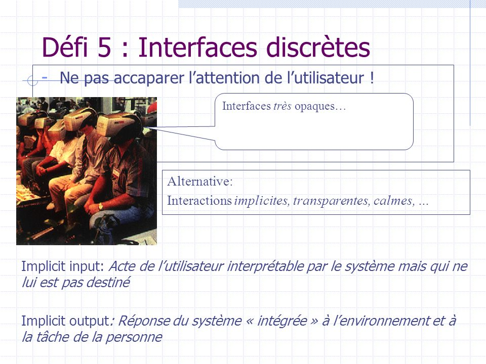 Défi 5 : Interfaces discrètes