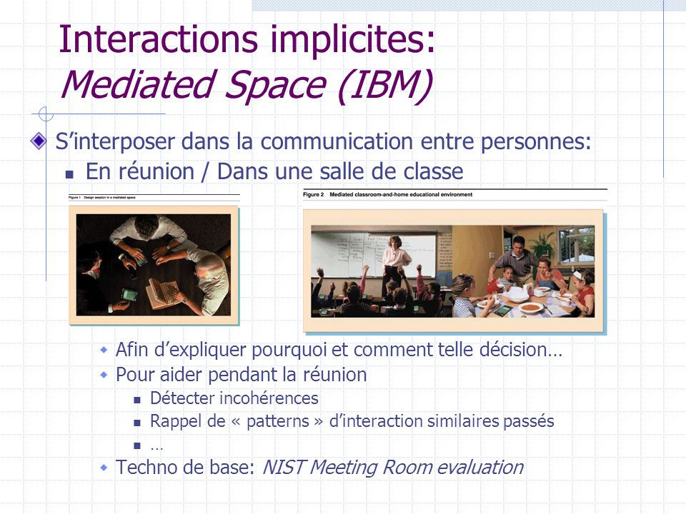 Interactions implicites: Mediated Space (IBM)