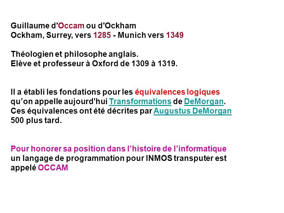 Guillaume d Occam ou d Ockham