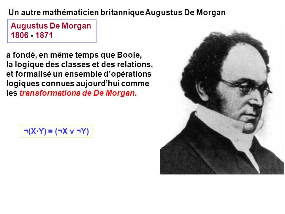 Un autre mathématicien britannique Augustus De Morgan
