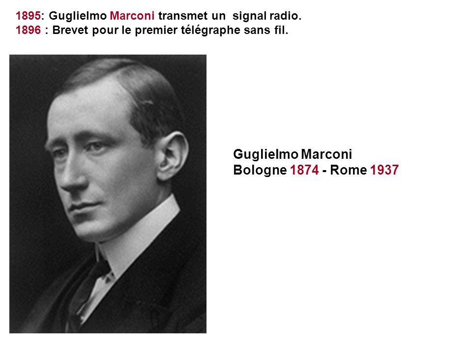 Guglielmo Marconi Bologne 1874 - Rome 1937
