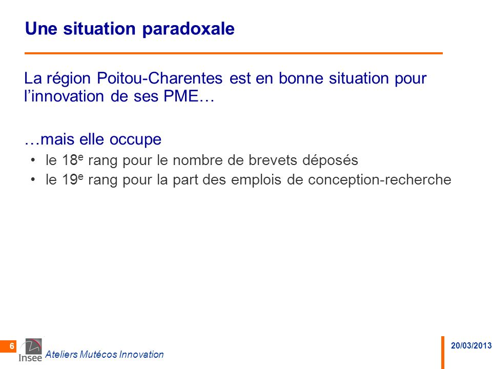 Une situation paradoxale