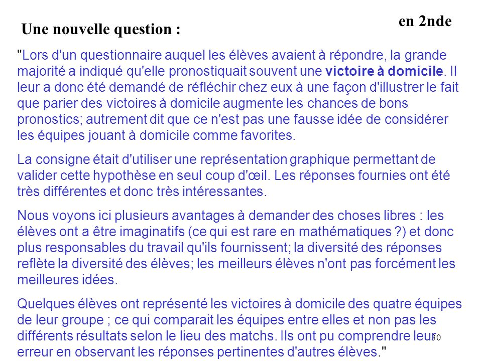 Une nouvelle question :