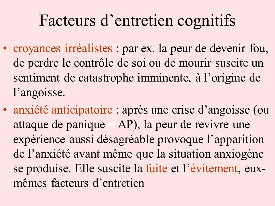 Facteurs d'entretien cognitifs