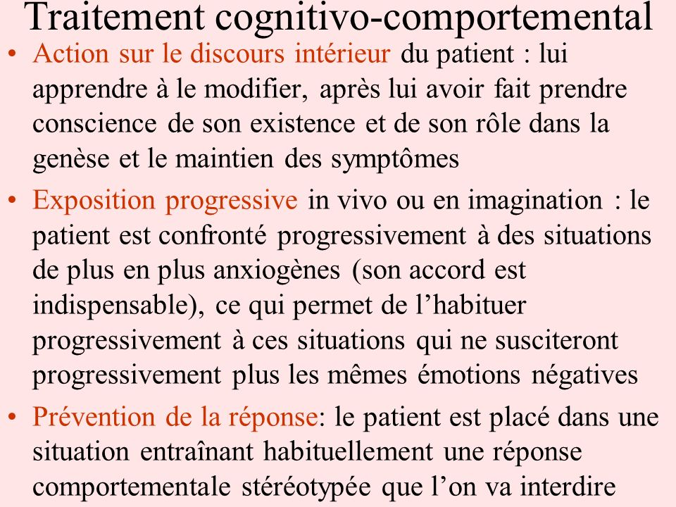 Traitement cognitivo-comportemental