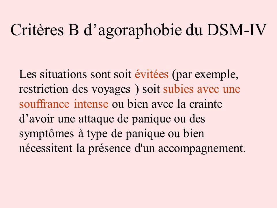 Critères B d'agoraphobie du DSM-IV