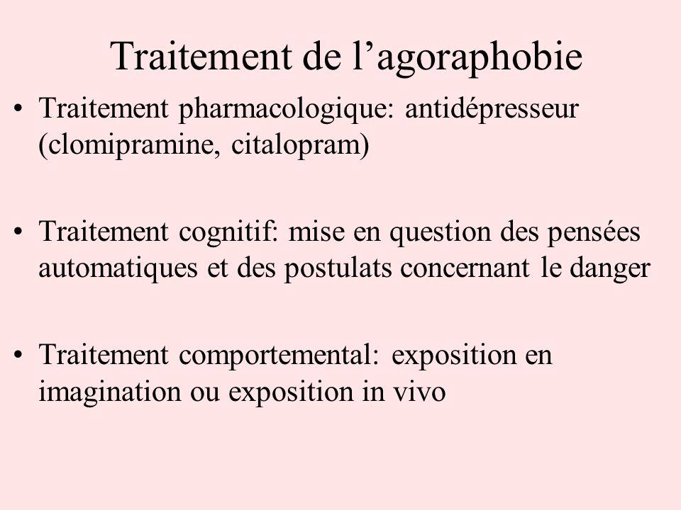 Traitement de l'agoraphobie